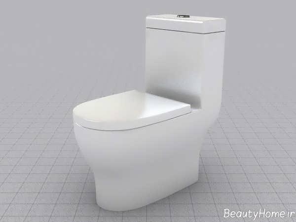توالت فرنگی ساده و زیبا
