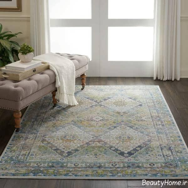 قالیچه طرح دار برای اتاق خواب