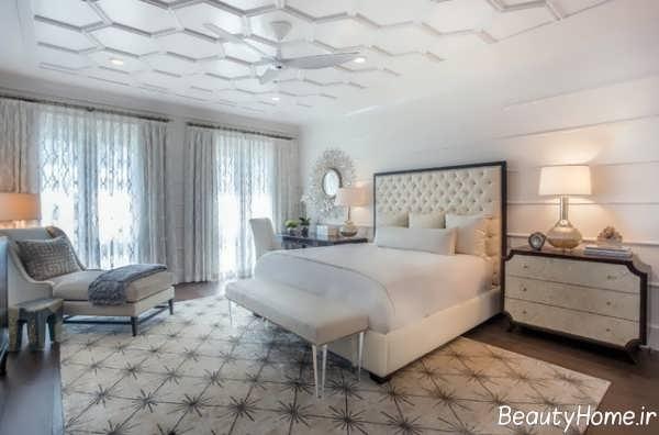 مدل قالیچه طرح دار برای اتاق خواب