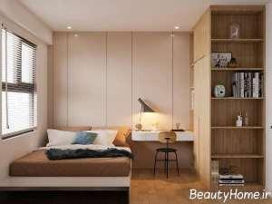 طراحی دکوراسیون اتاق خواب با رنگ های آرامش بخش