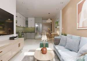طراحی داخلی منزل با رنگ های آرام