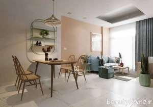 دیزاین منزل با رنگ های آرام