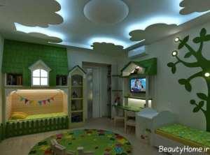 نور مخفی در سقف اتاق خواب