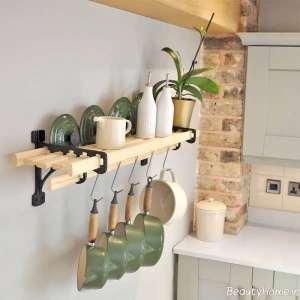 قفسه ساده آشپزخانه