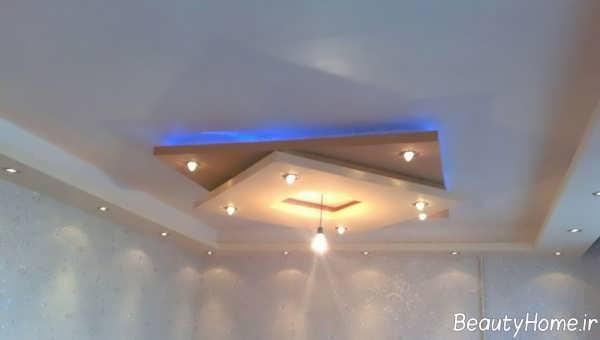طراحی نورپردازی کناف مربعی
