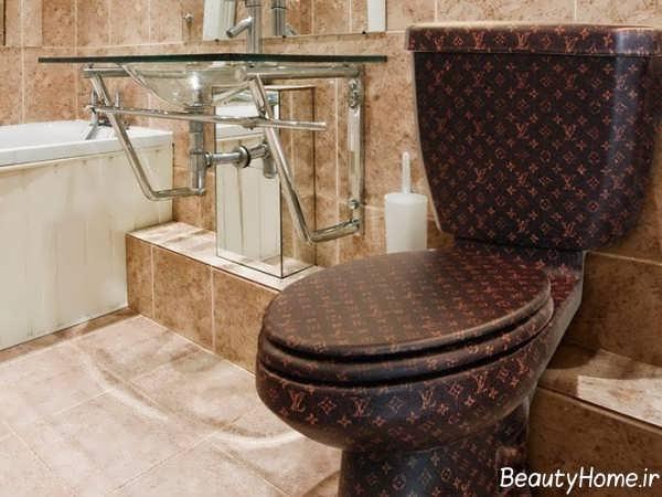 توالت فرنگی رنگ تیره