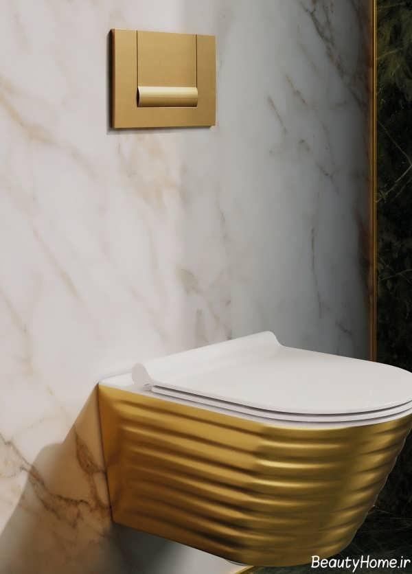 دستشویی فرنگی دو رنگ