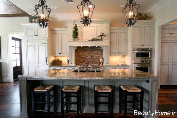 دکوراسیون آشپزخانه سنتی و شیک