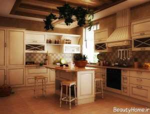 دیزاین داخلی آشپزخانه سنتی