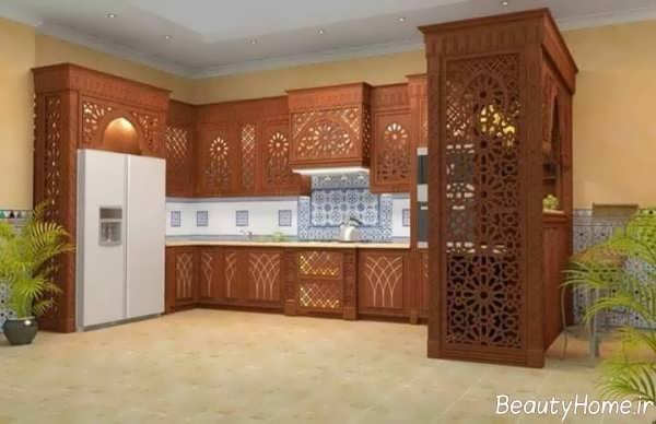 طراحی داخلی آشپزخانه سنتی