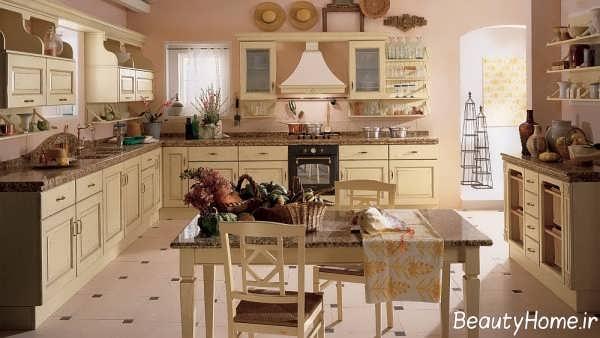 دیزاین سنتی آشپزخانه