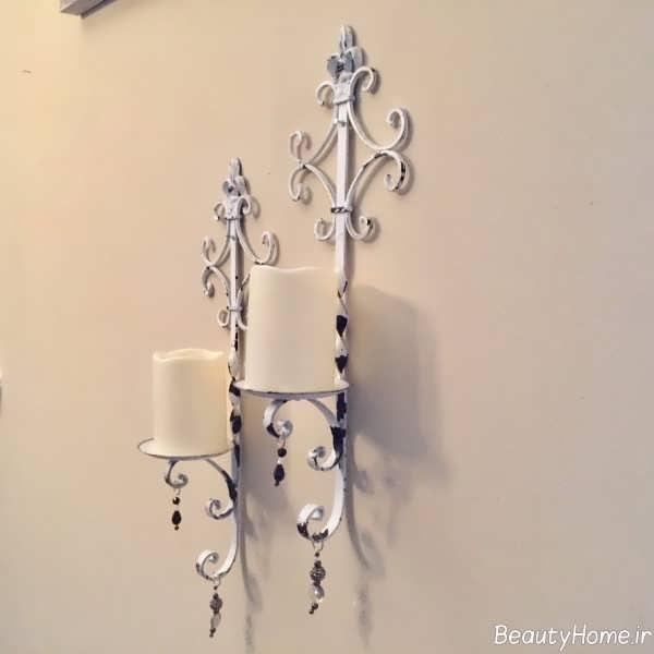 تزیین دیوار با شمعدان