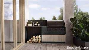 طراحی داخلی ویلا چوبی
