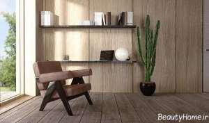 دیزاین ویلای چوبی بزرگ
