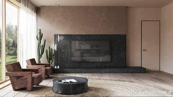 طراحی داخلی ویلای چوبی