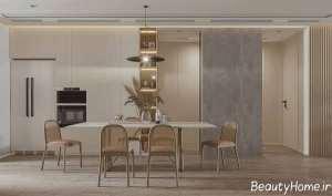 دکوراسیون اتاق غذاخوری چوبی