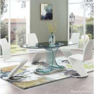 میز غذاخوری شیشه ای