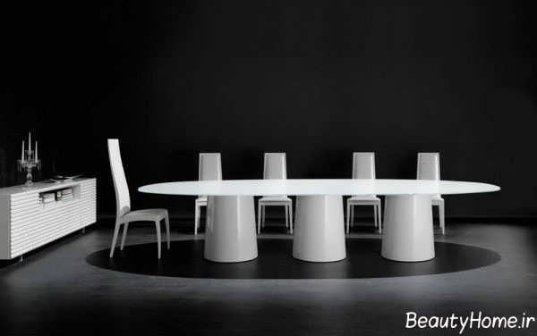 میز غذاخوری سفید