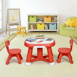 میز و صندلی قرمز