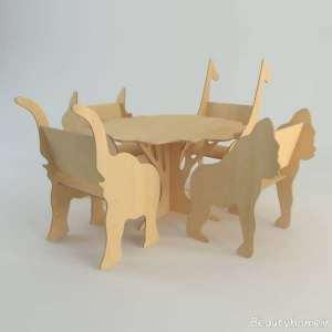 میز و صندلی ام دی اف