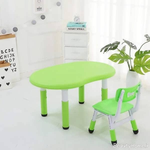 مدل میز صندلی سبز