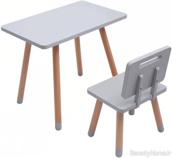 میز صندلی ساده