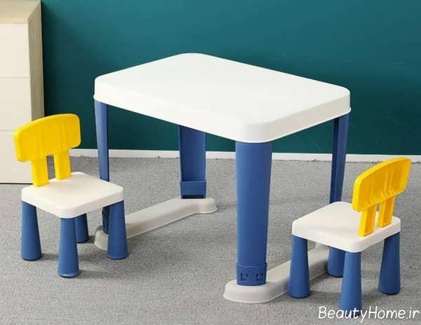 میز صندلی دو رنگ