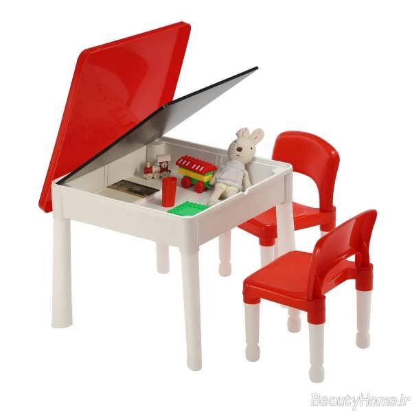 میز صندلی قرمز