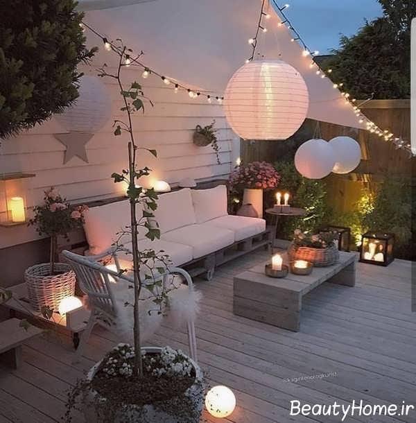 نورپردازی حیاط خلوت