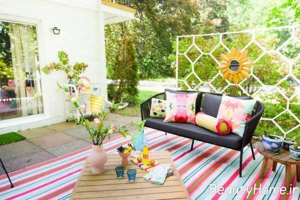 طراحی جالب حیاط خلوت