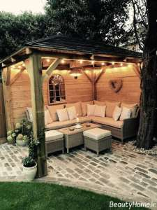 طراحی نورپردازی حیاط خلوت