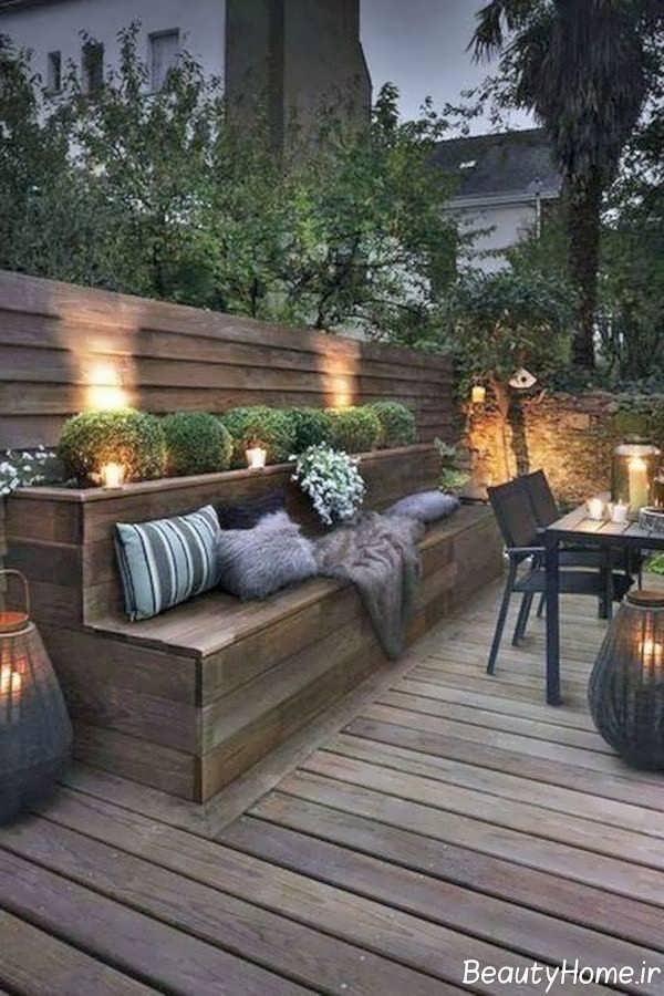 تزیین زیبا حیاط خلوت