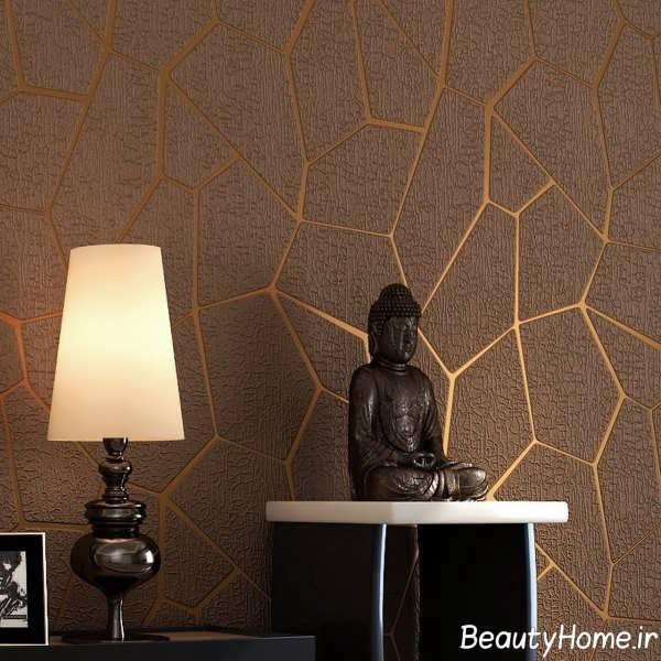 مدل کاغذ دیواری زیبا و قهوه ای