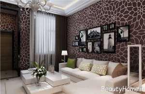 مدل کاغذ دیواری قهوه ای رنگ و زیبا