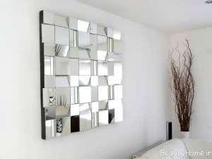 تزیین ساده نشیمن با آینه