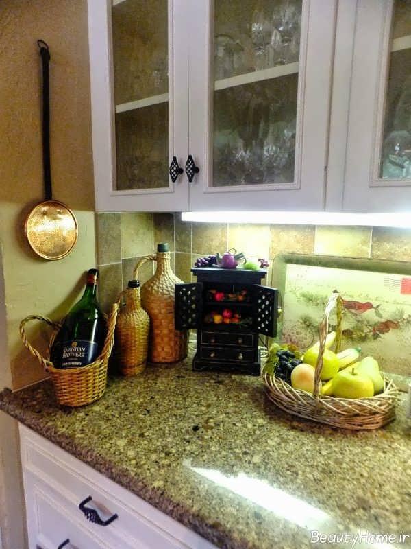 مدل تزیین برای پیشخوان آشپزخانه