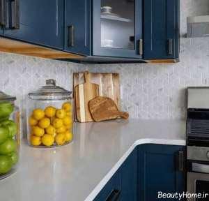 طراحی ساده پیشخوان آشپزخانه