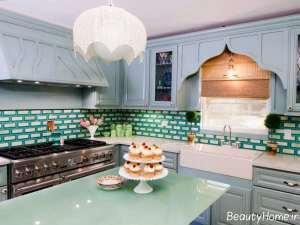 تزیین جالب پیشخوان آشپزخانه