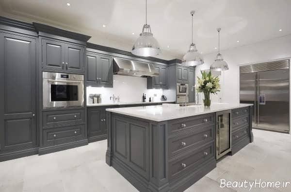 آشپزخانه زیبا و کاربردی ارگونومی
