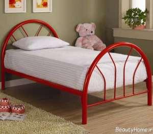 تختخواب فلزی قرمز