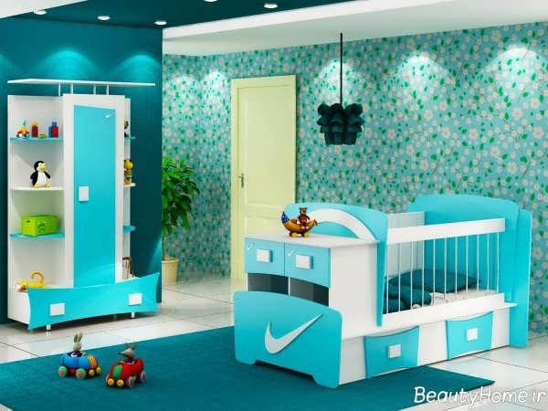 سرویس خواب نوزادی آبی