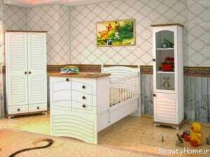 سرویس خواب نوزادی زیبا و شیک