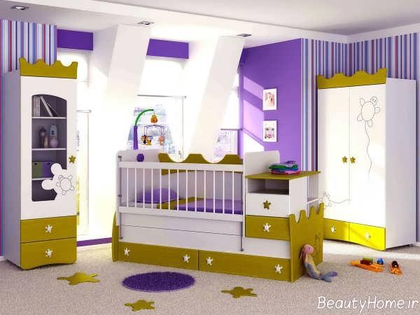 سرویس خواب نوزادی دو رنگ