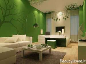 کاربرد رنگ سبز در دکوراسیون داخلی منزل