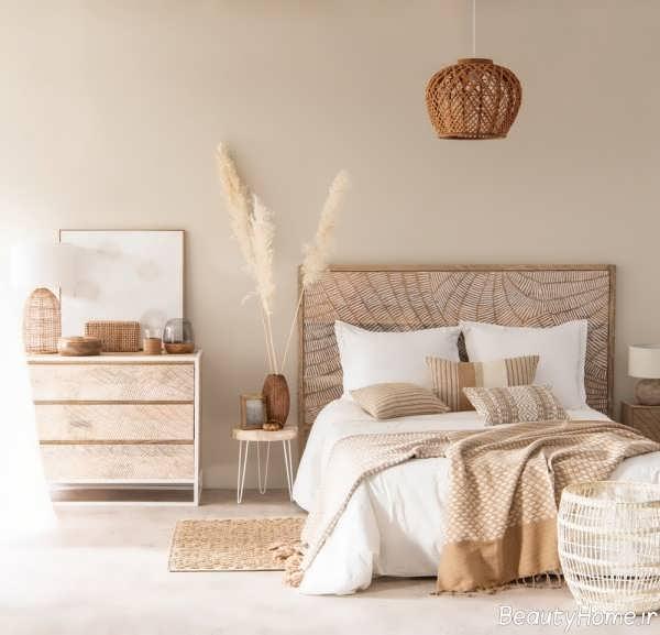 دیزاین داخلی اتاق خواب کرم