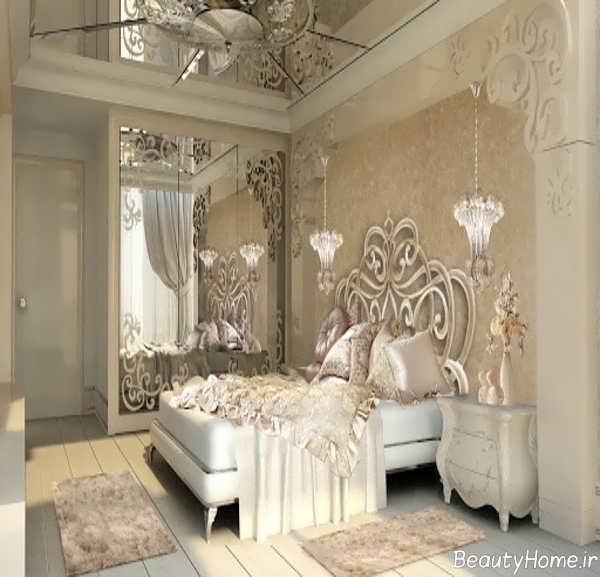 طراحی داخلی اتاق خواب کرم