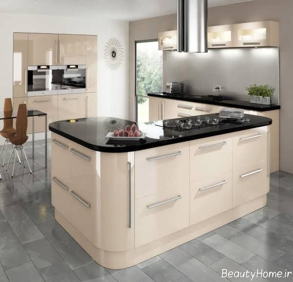 دیزاین داخلی آشپزخانه رنگ