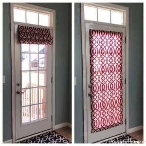 پرده طرح دار برای پشت درب