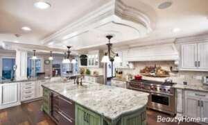کابینت آشپزخانه زیبا و کلاسیک