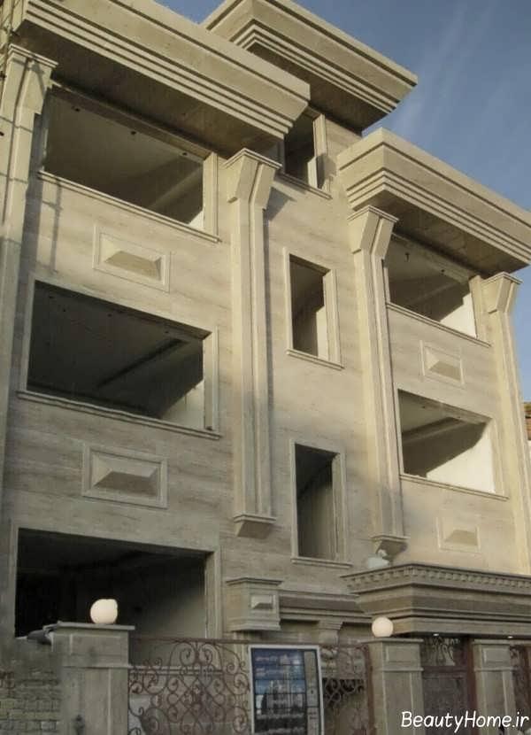 نمای شیک و سنگی ساختمان